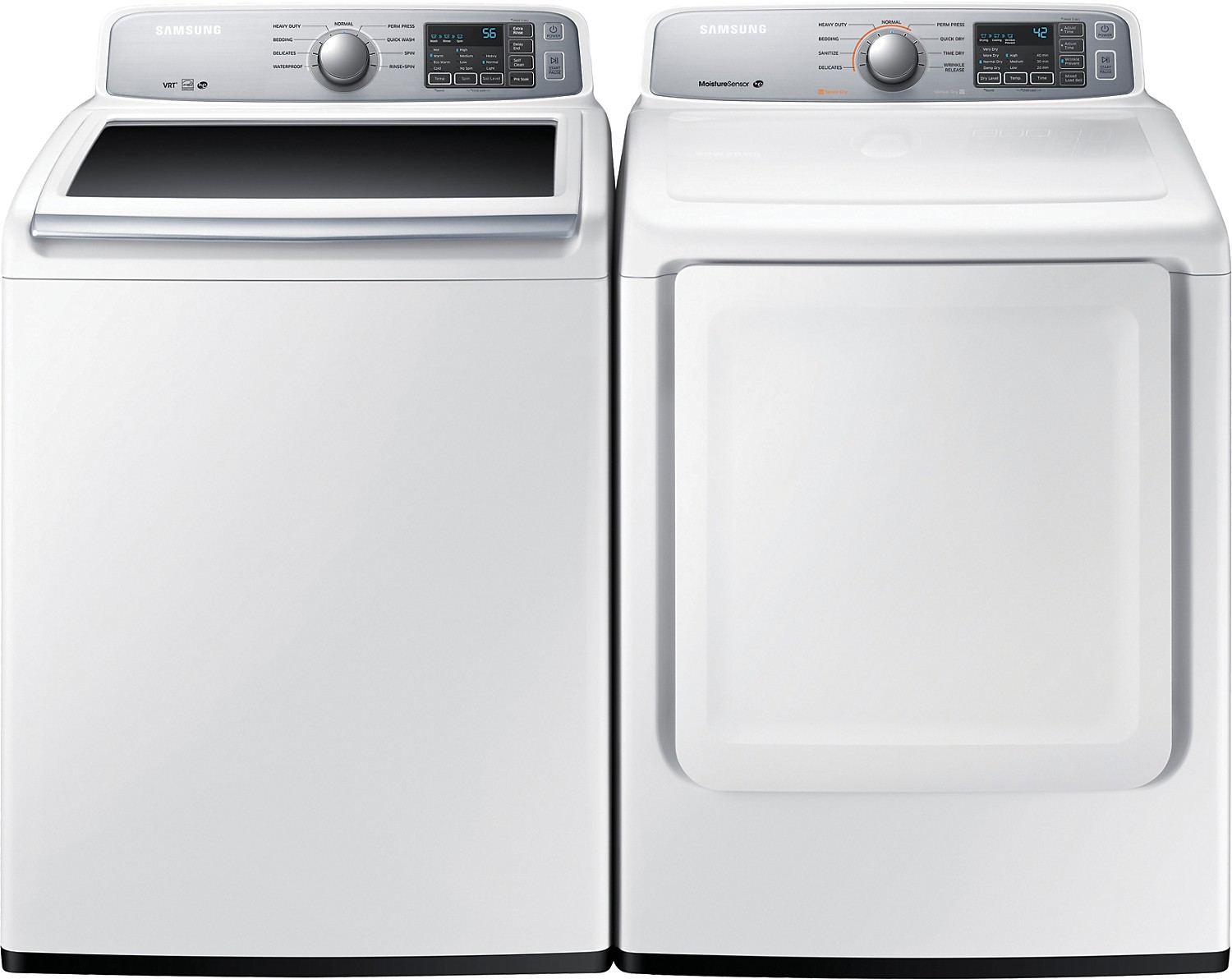 Work surface for washer and dryer - Samsung Top Loading Washer White